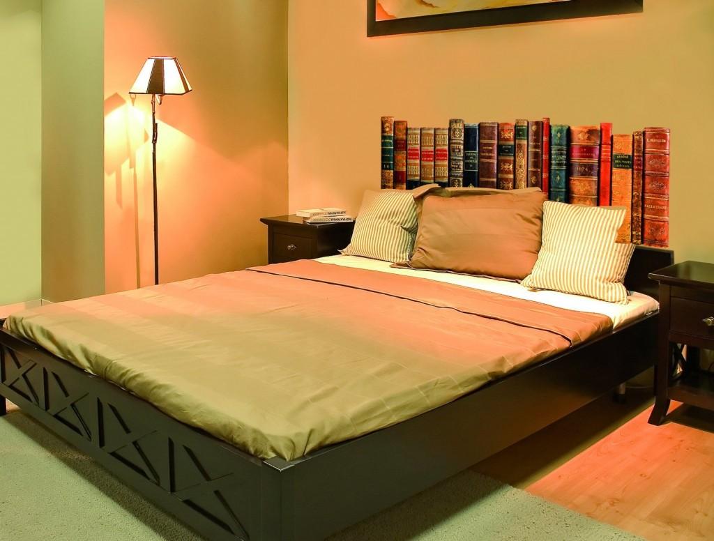 Cabecero de cama libros antiguos decoraci n teukhos - Libros antiguos para decoracion ...