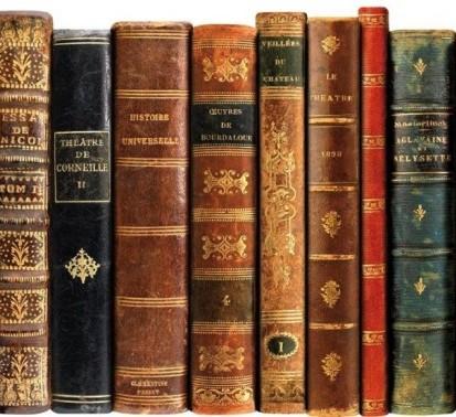 PLAGE 143508 Sticker de decoración - cabecero de cama-Libros antiguos